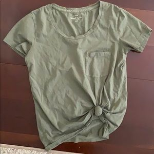 Tied t shirt